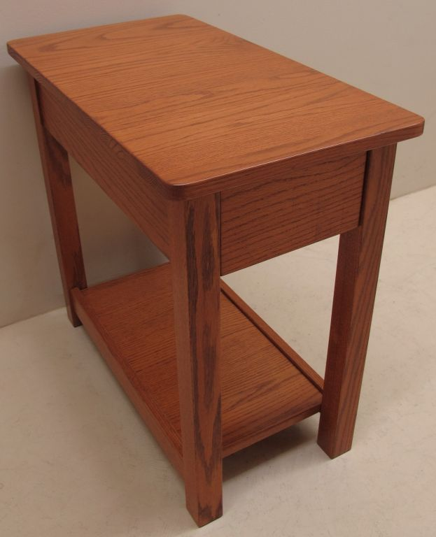 Solid Red Oak Side Table