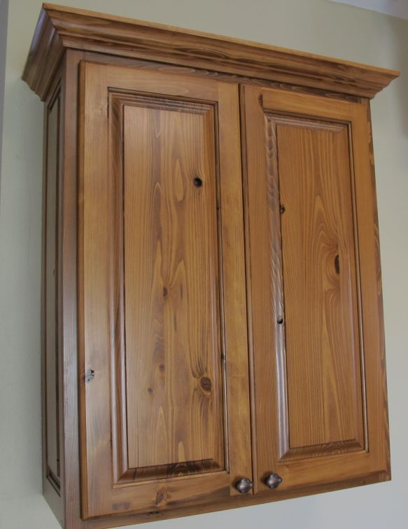 Knotty Cypress Wall Cabinet Eagle Cabinets